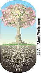 Tree and his roots - Roots of tree are as deep as high tree...