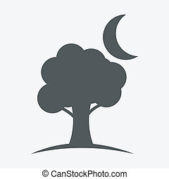 tree and moon icons