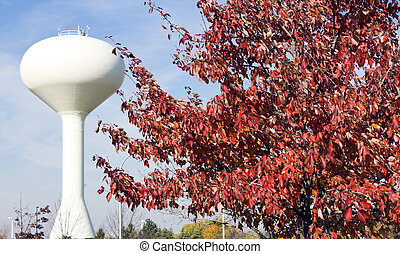 Tree and water tower