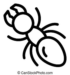 Tree ant icon, outline style