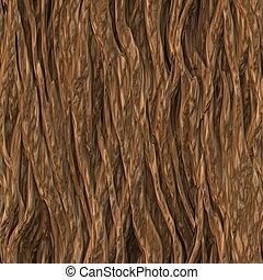 Seamless Tree Bark Wood Texture as Tileable