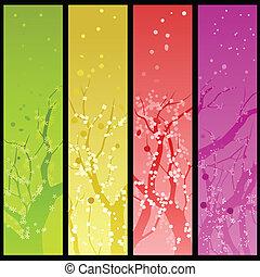 Tree bloom banners