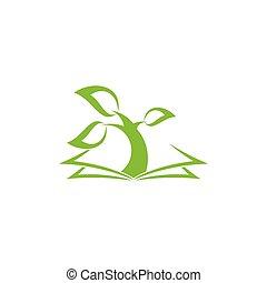 tree book biology lesson symbol vector