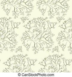 tree branch pattern green vector seamless