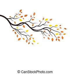 tree branch vector illustration design