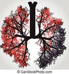 Tree Branches Like Lungs - Vector I