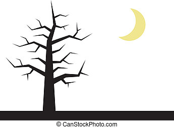 Tree Branches with Moon