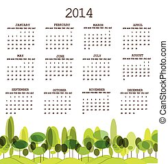 Tree calendar 2014