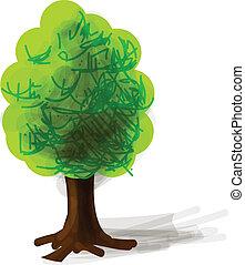 Tree cartoon icon vector illustration