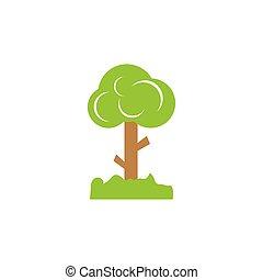 tree cartoon vector icon illustration design