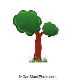 tree color vector illustration