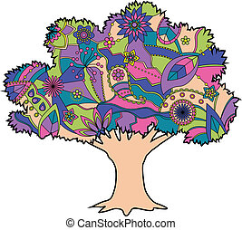 Tree colorful