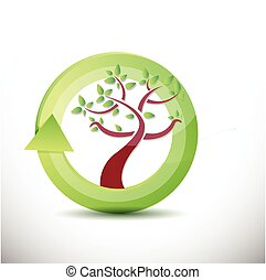 tree cycle illustration design