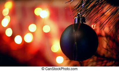 Tree decorated lights Christmas