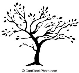 Tree - vector tree silhouette