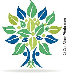 Tree family logo symbol