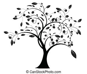 tree floral of illustration