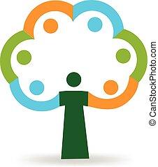 Tree friendship logo
