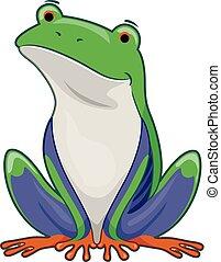 Tree Frog Illustration - Illustration of a Sitting Tree Frog...