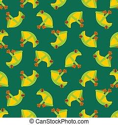 Tree frog pattern seamless. Tropical amphibian vector...