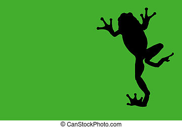Tree frog shape - isolated shape of a tree frog clinging to...