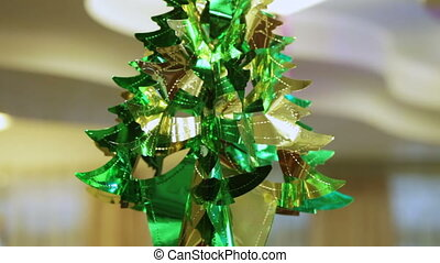 Tree from foil - Hanging under ceiling shiny foil tree