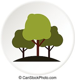 Tree group icon circle