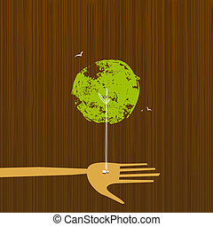 Tree Growth from a Hand