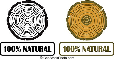 Tree growth rings vector eps 10