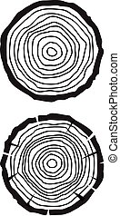 Tree growth rings
