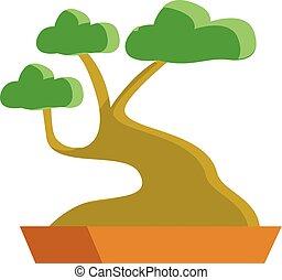 Tree hand drawn design, illustration, vector on white background.