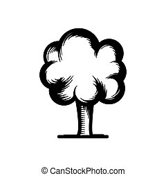 tree hand drawn icon vector illustration