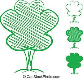 Tree. Hand drawn sketch illustration