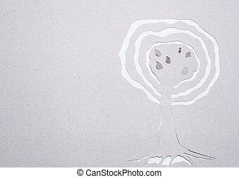 Tree handmade - Image of abstract white tree handmade. Eco ...