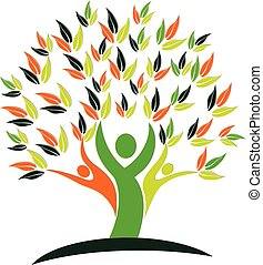 Tree health nature people logo