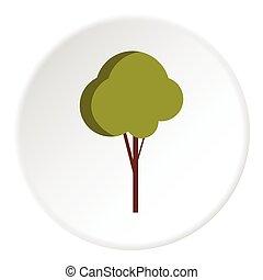Tree icon, flat style
