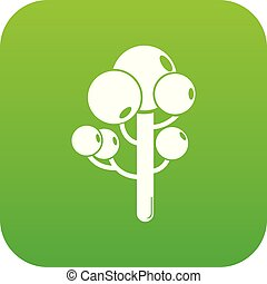 Tree icon green vector