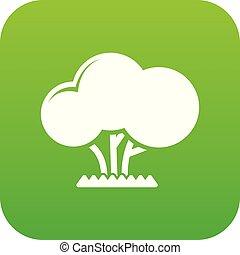 Tree icon green vector
