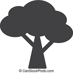 Tree icon in black on a white background. Vector illustration