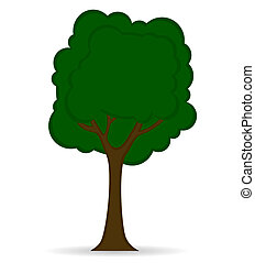 Tree icon isolated on white