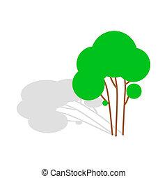 Tree icon, isometric 3d style