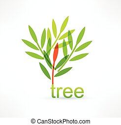 Tree icon. Logo design.