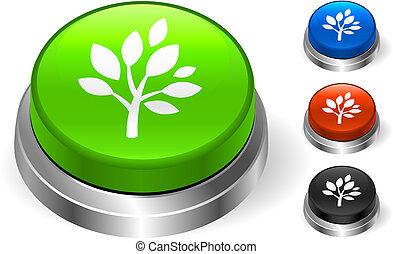 Tree Icon on Internet Button