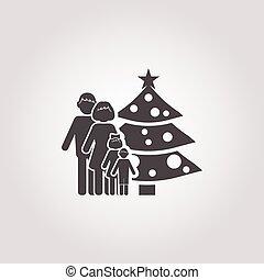 tree icon on white background