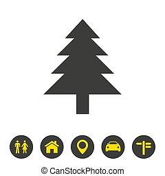 Tree icon on white background.