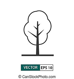 Tree icon. Outline style. Vector illustration EPS 10