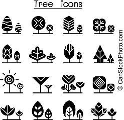 Tree icon set vector illustration graphic design