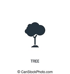 Tree icon. Simple gardening element illustration. Vector symbol design from agriculture collection. Can be used in web and mobile.