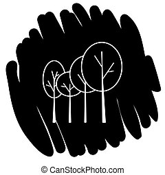 Tree icon vector illustration on black background