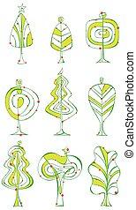 Tree illustration set